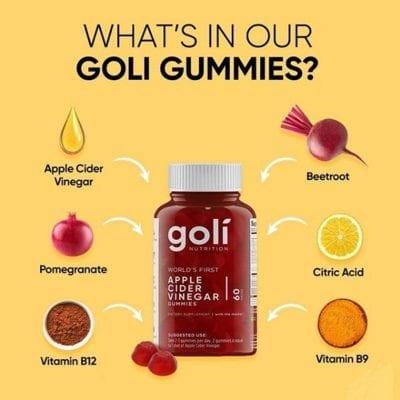 Goli Nutrition Apple Cider Vinegar Gummies Dietary