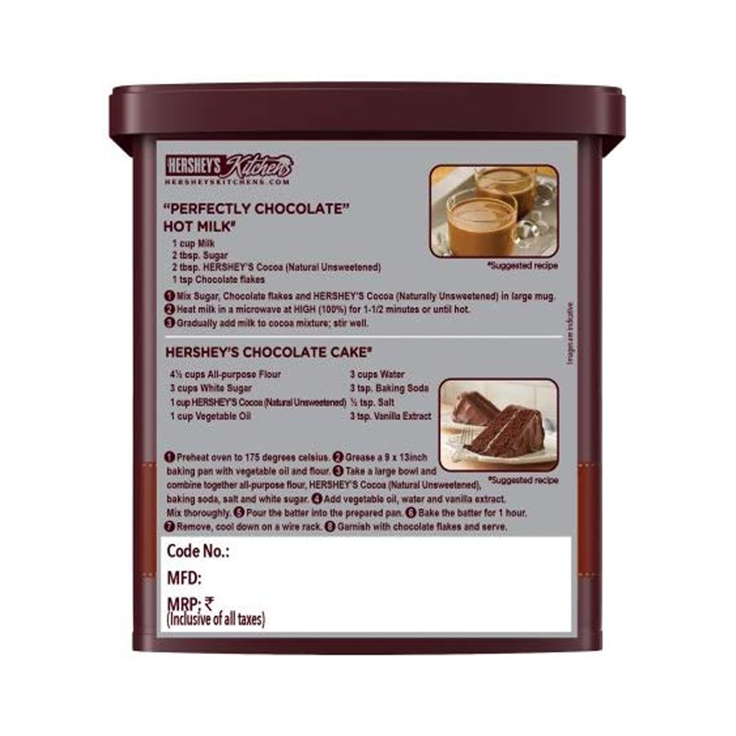 Cocoa Natural unsweetened Powder 225Gm