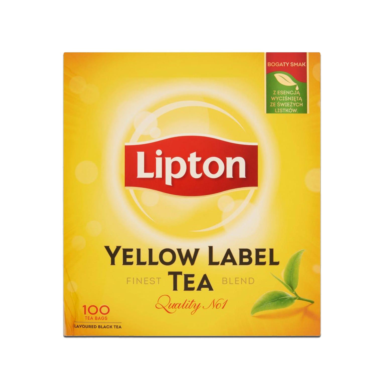 Lipton Yellow Label Tea Black Tea 100 tea bags | Shopifull